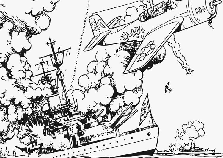 Dibujo Para Colorear Guerra En El Mar Img 12761 Images