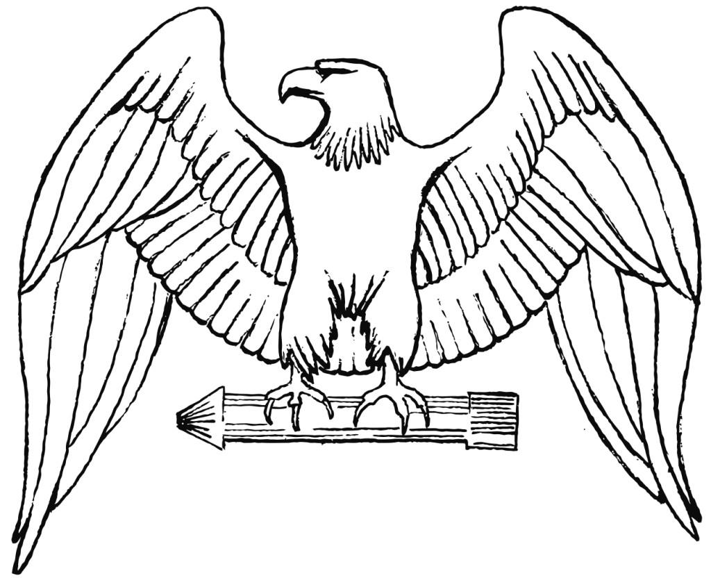 Dibujo para colorear Águila - Img 16018