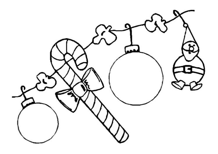 Dibujo para colorear Guirnalda navideña - Img 8646