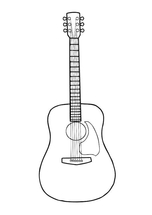 Dibujo para colorear guitarra - Img 29718