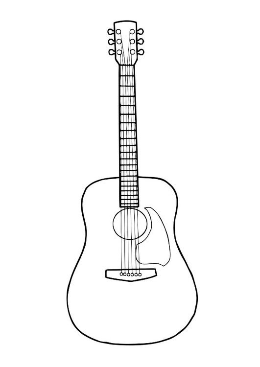dibujo para colorear guitarra