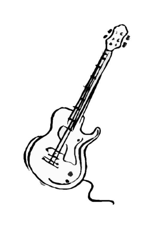 Dibujo para colorear Guitarra - Img 8705