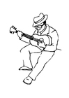 Dibujo para colorear Guitarrista