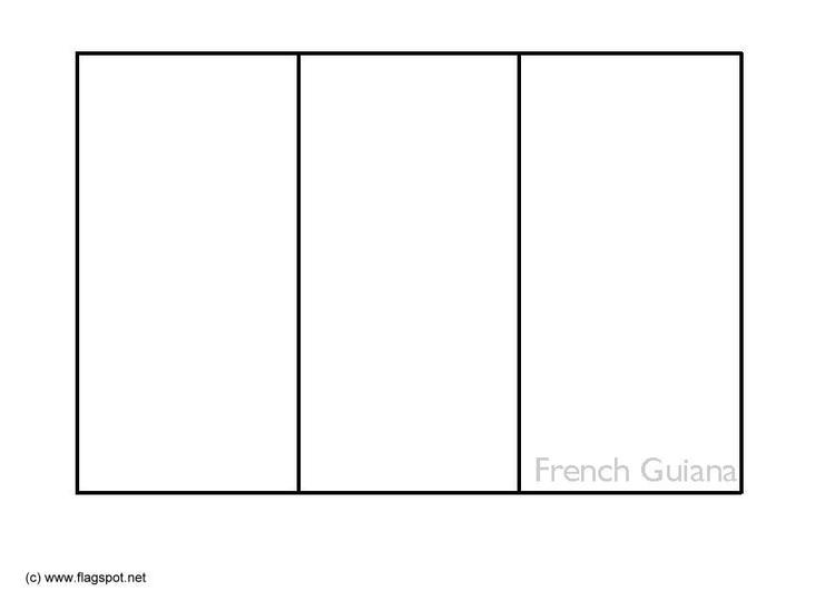 Dibujo para colorear Guyana francesa - Img 6353