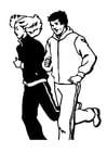 Dibujo para colorear Hacer jogging