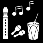 Dibujo para colorear Hacer música