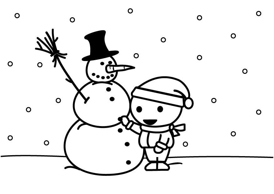 Muñeco De Nieve Dibujo: Dibujo Para Colorear Hacer Un Muñeco De Nieve