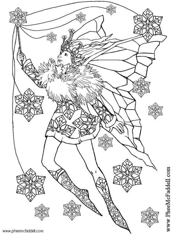 Dibujo para colorear Hada copo de nieve - Img 6117