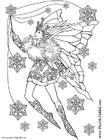 Dibujo para colorear Hada copo de nieve