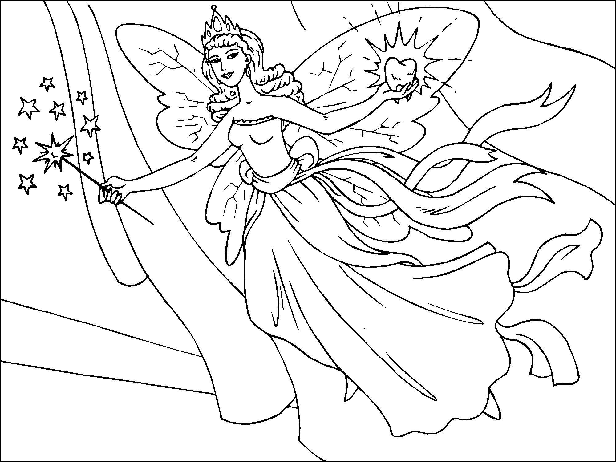 Dibujo Para Colorear Hada De Los Dientes Img 22819 Images