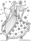 Dibujo para colorear Hada del invierno