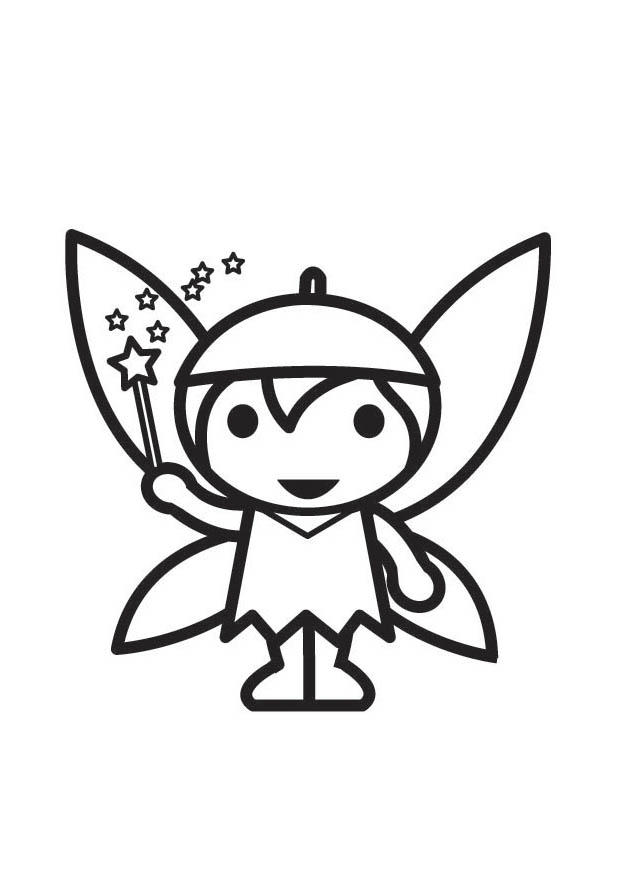 Dibujo para colorear hada elfo img 18294 - Dibujos de hadas infantiles para imprimir ...