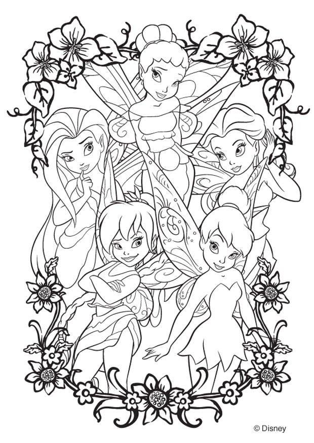 Dibujo para colorear hadas de Disney  Img 20746