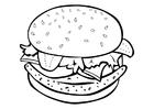 Dibujo para colorear Hamburguesa