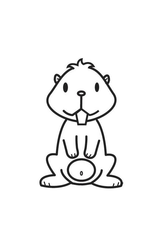 Dibujo para colorear hamster - Img 17527