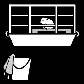 Dibujo para colorear Hamster - limpiar la jaula - Img 13403