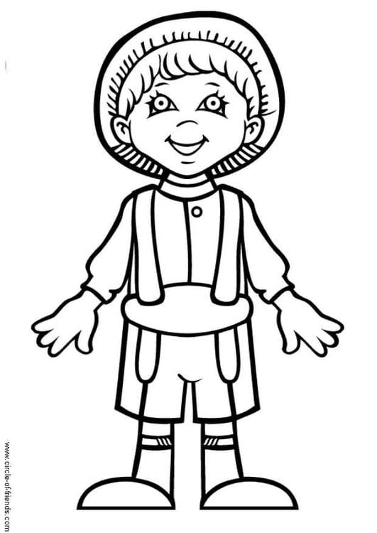 Dibujo para colorear Hans de Alemania - Img 9293