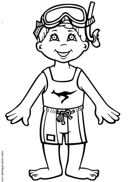 Dibujo para colorear Hans quiere nadar - Img 5625