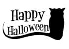 Dibujo para colorear Happy Halloween