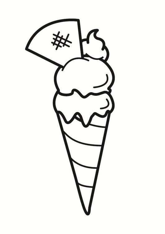 Dibujo para colorear helado  Img 23325