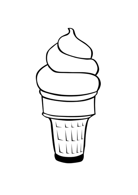 Dibujo para colorear helado  Img 28655