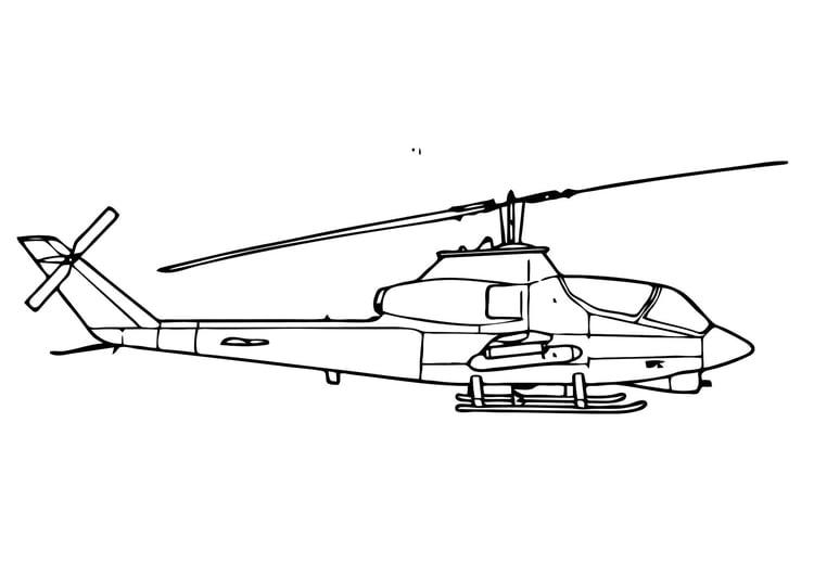 Dibujo para colorear Helicóptero cobra - Img 11307