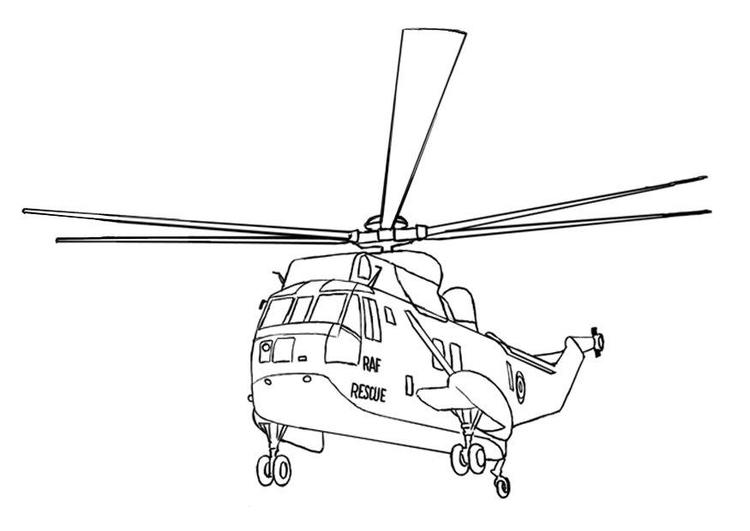 Dibujo para colorear Helicóptero de rescate - Img 7535