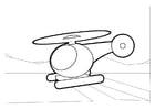 Dibujo para colorear Helicóptero