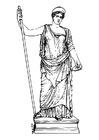 Dibujo para colorear Hera