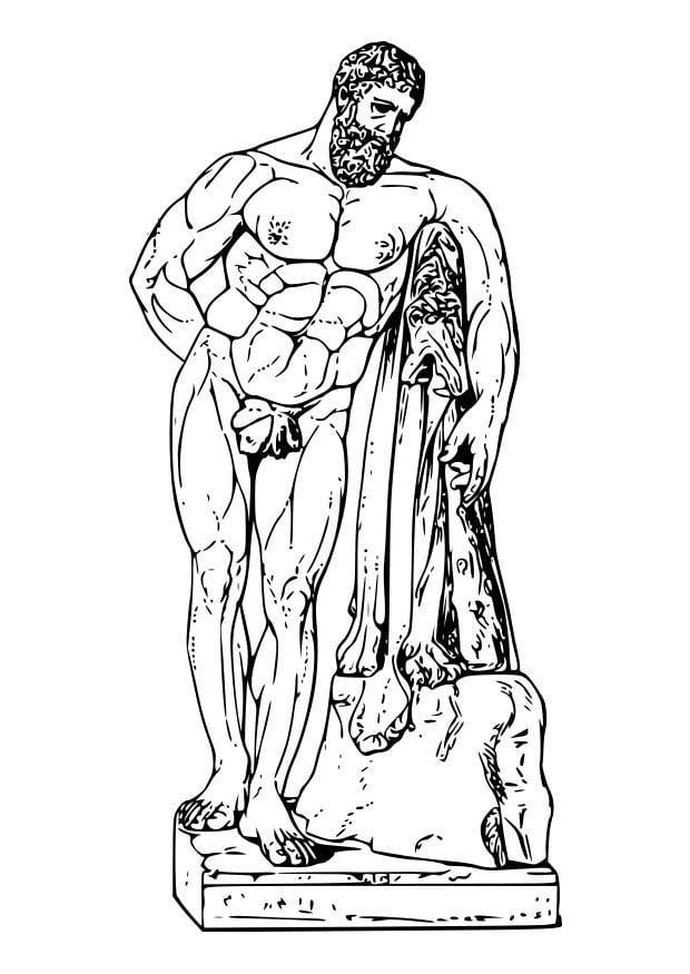 dibujo para colorear hercules img 18605