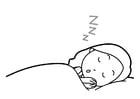 Dibujo para colorear higiene del sueño