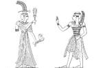 Dibujo para colorear Hijo e hia de Ramses 2
