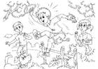 Dibujo para colorear hiperactivo - ADHD