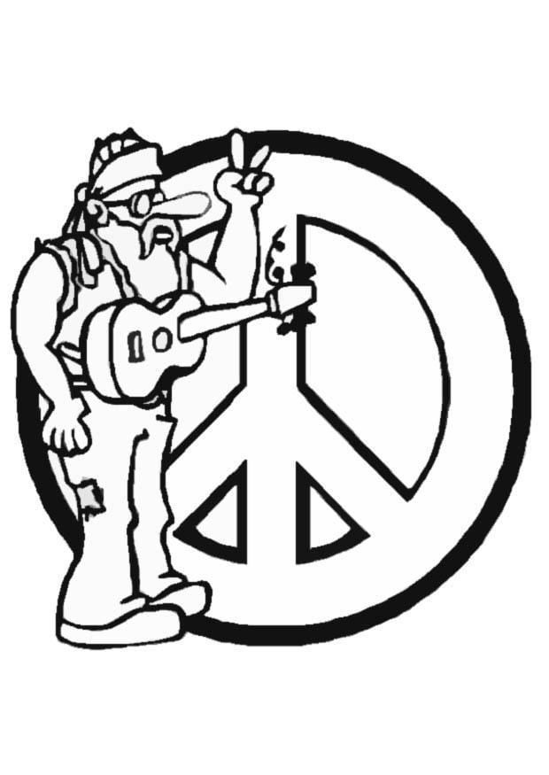 Dibujos Hippies Para Colorear