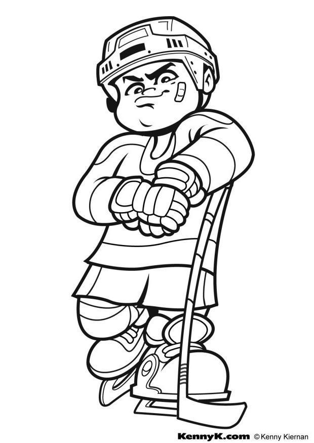 Dibujo para colorear Hockey - Img 7027