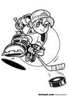 Dibujo para colorear Hockey