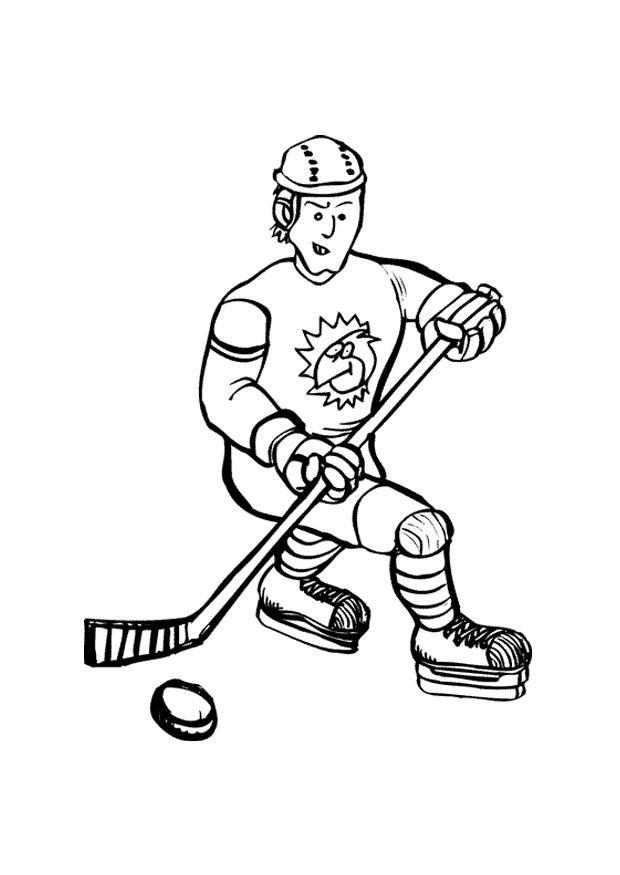 dibujo para colorear hockey sobre hielo  dibujos para
