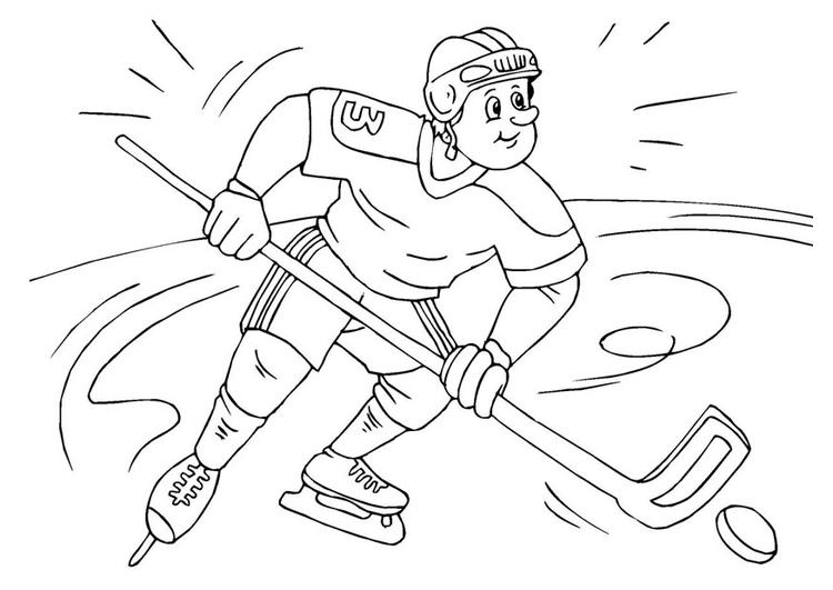 Dibujo para colorear hockey sobre hielo - Img 25984