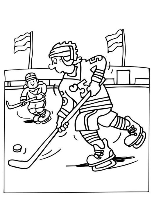 Dibujo para colorear Hockey sobre hielo - Img 26096
