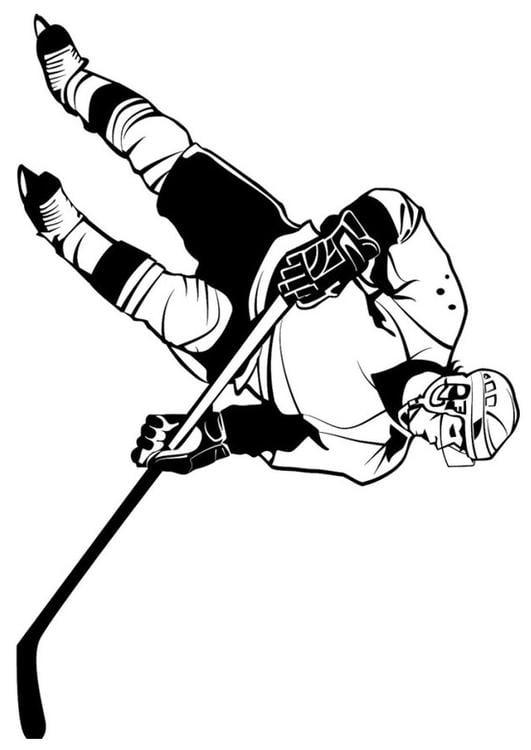 Dibujo para colorear hockey sobre hielo - Img 24669
