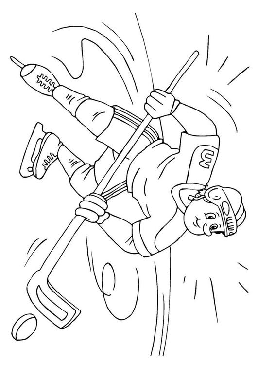 Dibujo para colorear hockey sobre hielo - Img 26069