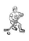 Dibujo para colorear Hockey sobre hielo