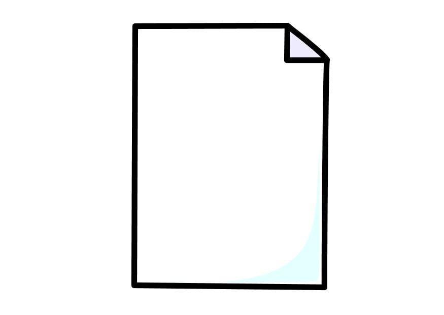 Dibujo para colorear hoja de papel img 10263 - Papel de pintar ...