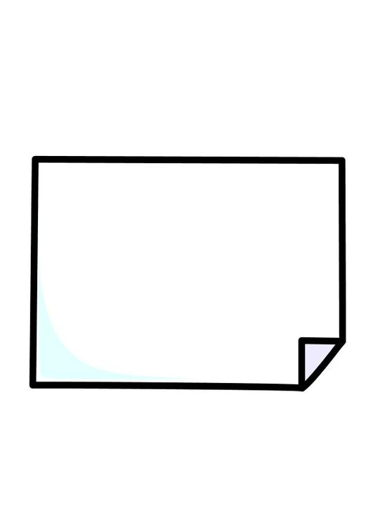 Dibujo para colorear Hoja de papel - Img 10263