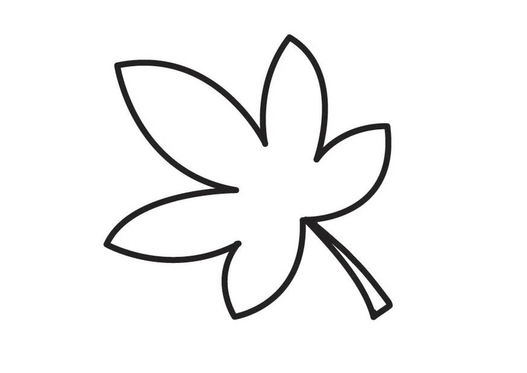 Dibujo para colorear hoja - Img 18545