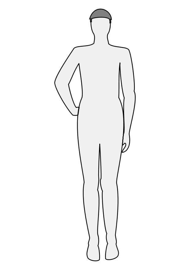 Dibujo para colorear Hombre de frente  Img 10223