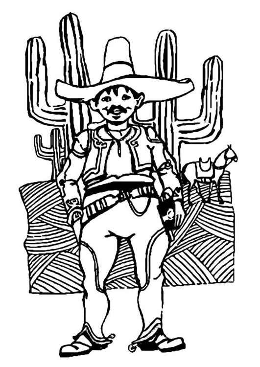 Dibujo Para Colorear Hombre De México Img 22757