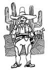 Dibujo para colorear hombre de México
