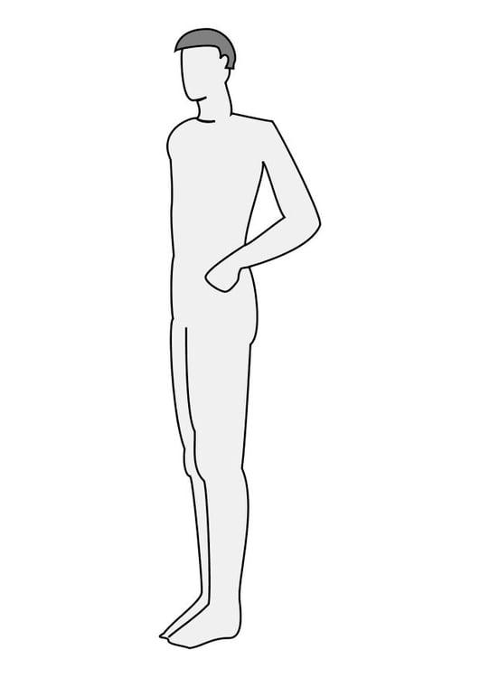 Dibujo para colorear Hombre de perfil - Img 10224