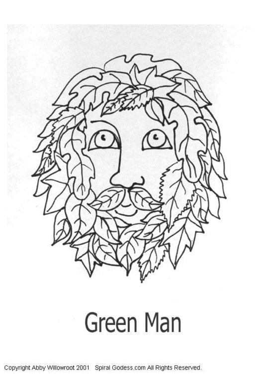 Dibujo para colorear Hombre verde - Img 6050
